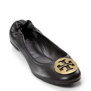 USED Tory Burch Minnie Travel Leather Ballet Flats
